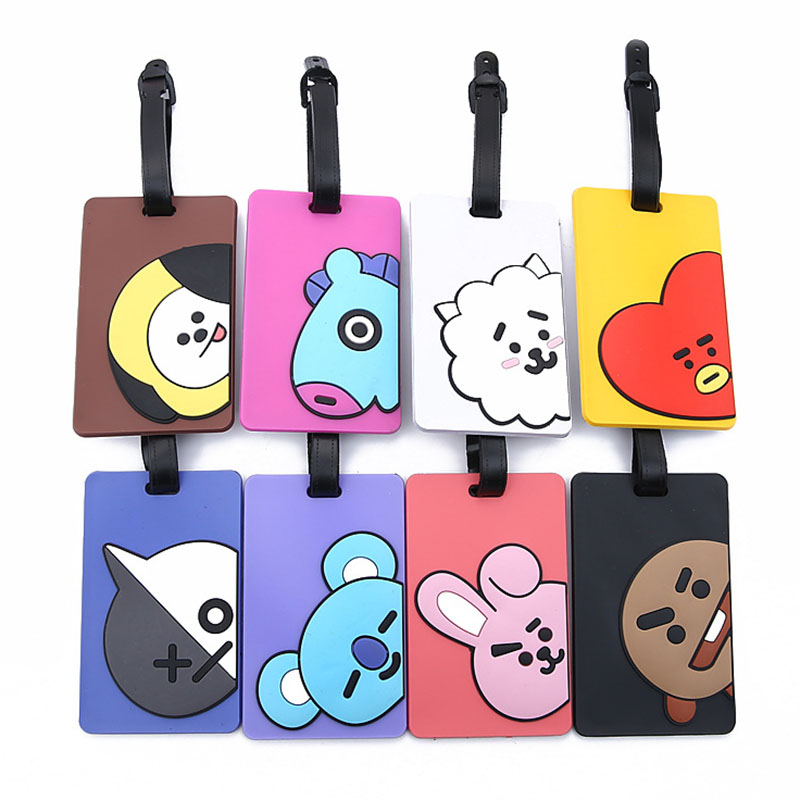 Cute Dog Rubbit Koala Travel Accessories Luggage Tag Silica Gel Suitcase ID Addres Holder Baggage Boarding Tag Portable Label