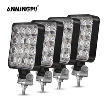 ANMINGPU 42W 48W Mini LED Bar Waterproof 12V 24V LED Light Bar Offroad Spot Flood LED