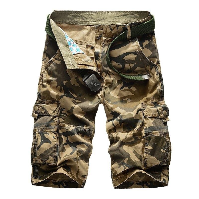 Summer Men'S Wear Capri Pants Men's Plus-sized Short Pants Fat 5 Lard-bucket 6 Fatty Special 7 Large Size Camouflage 8-Loose-Fit