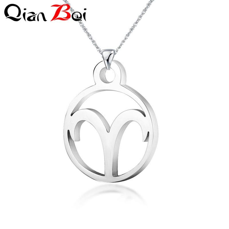 Aries 1pcs Women// Men/'s Silver 316L Stainless Steel  Pendant Necklace