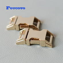 10pcs 15mm gold metal belt buckles quick side release buckle clip clasp snap hook DIY dog collar paracord backpack accessories