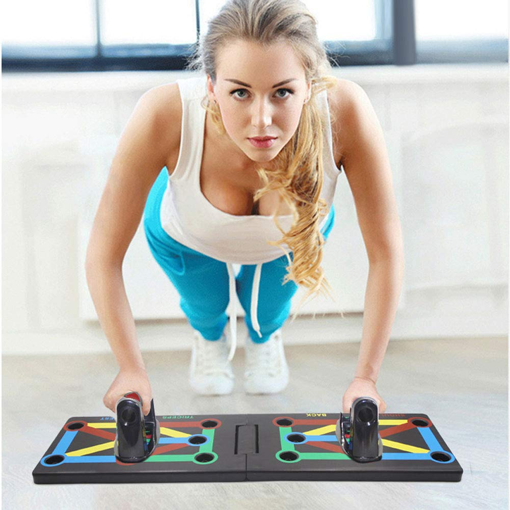 New 9 IN 1 Push Up Rack Board System Comprehensive Fitness Exercise Workout Pushup Stands Complete Training Gym Exercise Men