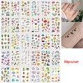 30 шт./компл. Tatuajes Temporales; Красивые детские штаны с фальш-вставкой, настенные наклейки для детской женские пальцев руки Временные татуировки В...