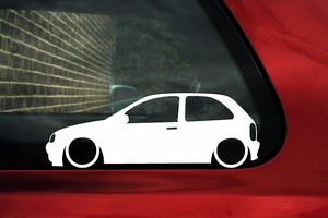 For Lowered car silhouette sticker - for Vauxhall Corsa B (3 door) Car Styling