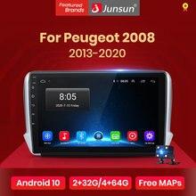 Junsun V1 pro 2G + 128G Android 10 PEUGEOT 2008 2013 - 2020 araba radyo multimedya Video oynatıcı navigasyon GPS 2 din dvd