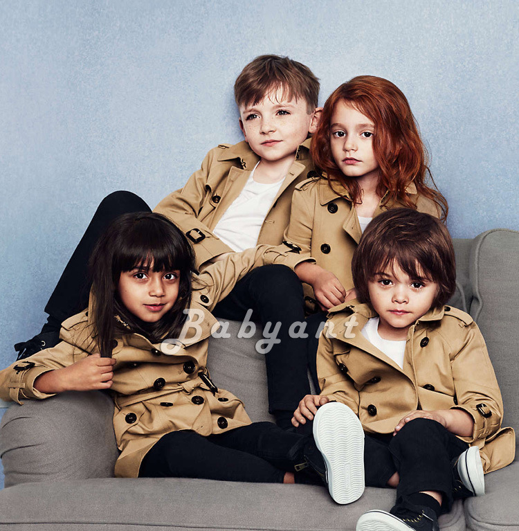 England Childrenswear Girls Double Breasted Trench Coat Big Boy Mid-length Casual CHILDREN'S Jacket 2019 Children Autumn Overcoa