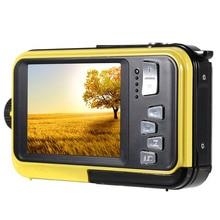 2.7inch 48MP Underwater Waterproof Digital Camera Dual Screen Video Camcorder Camera Children Portable Mini Digital Camera