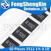 50 шт. 2512 SMD резистор 1 Вт 1% 0,1r 0,1 Ом R100