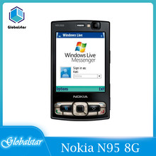 Nokia-smartphone N95 8G, móvil renovado, Original, 8G, GSM, 3G, red WIFI, cámara de 5MP, 2,8