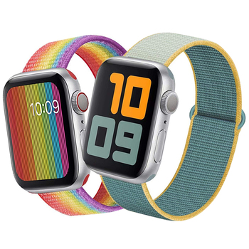 цена на Sport Bracelet Loop band for Apple Watch 44mm 42mm 40mm 38mm Reflective Woven Nylon Strap Wrist band For iwatch series 4/3/2/1