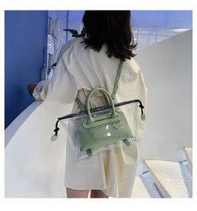 Image 5 - JIULIN חדש ג לי שקוף bag2019 חדש קיץ טרי יד כף כנף תיק קוריאני חד כתף אלכסוני תיק גדול תיק