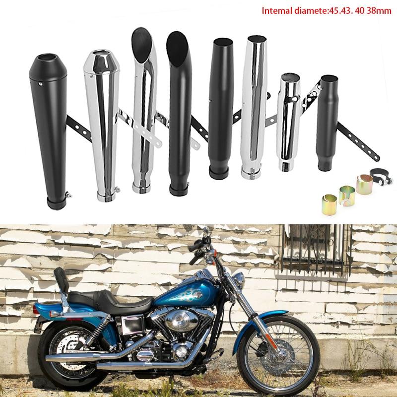 DERI Motorcycle Muffler antiqued vintage exhaust pipe Metal escapamento para moto Universal for M800 1200 CUSTOM XL883 motorbike