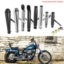 Silenciador de motocicleta DERI antiguo tubo de escape de Metal para moto Universal para moto M800 1200 personalizado XL883