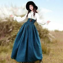 Cosplay Victorian Medieval Vintage Skirts Steampunk Costume Womens High Waist Solid Color Fashion Midi Skirt