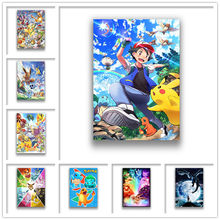 Japanese Anime Monster Wall Stickers White Coated Paper Prints Home Decoration Livingroom Bedroom Bar Home