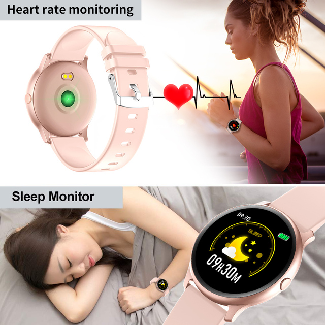 New Sports Waterproof Smart Watch Women Smart Bracelet Band Bluetooth Heart Rate Monitor Fitness Tracker Smartwatch for Android