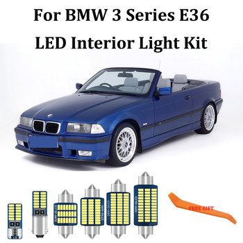 13X Error Free bulb light Kit For BMW 3 Series E36 318i 320i 325i 323i 328i Convertible LED Interior Light + License Plate Lamp image
