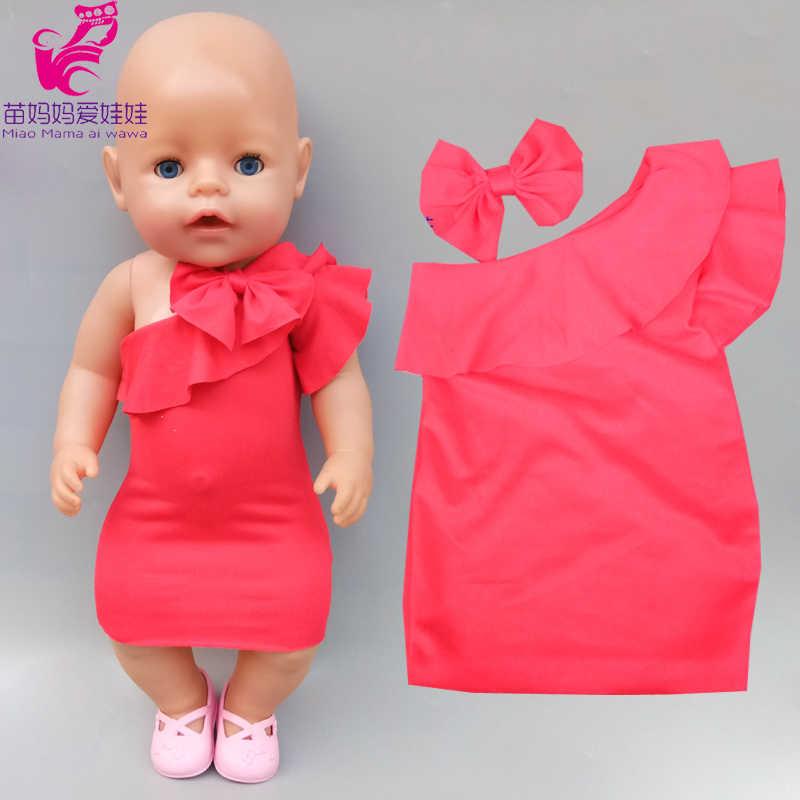 43cm noworodki laleczka bobas czerwona sukienka dla dzieci prezent dla dzieci 18 cali american generation girl doll suknia wieczorowa
