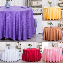 10PCS Wedding  Jacquard Polyester Tablecloth Round Party Table Cloth Hotel Table Cover