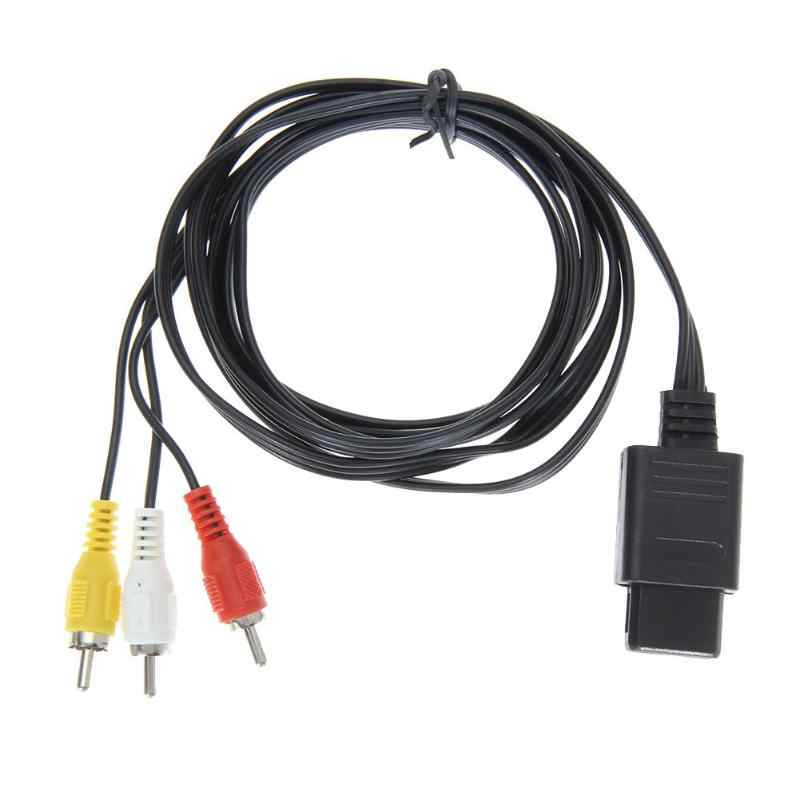 1.8M 6FT AV TV RCA Video Cord Kabel voor SNES Game Cube voor Nintend N64/64 Game Kabel voor SFC 2 Audio Output Connectors