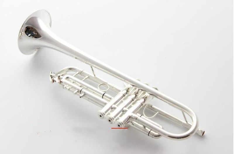 Bach Stradivarius Bb ทรัมเป็ต AB-190S เงินเครื่องดนตรีใหม่ปากเป่าทรัมเป็ตระดับมืออาชีพ