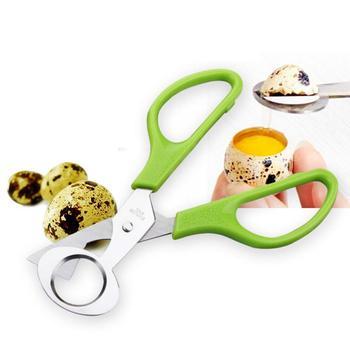 Narzędzia jajeczne ze stali nierdzewnej przepiórcze jajko podnośniki otwieracz do jajek Cutter narzędzia kuchenne podnośniki nożyczki kuchenne ekologiczne akcesoria 1pc tanie i dobre opinie CN (pochodzenie) CE UE Plastic stainless steel 1pcs 14cm 6 5cm 1 x Quail Egg Scissor