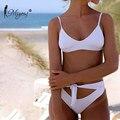 Пикантные дизайнерские купальные костюмы Miyouj, пляжная одежда из двух частей, женский купальник с принтом, комплект бикини с пуш-ап 2020, высок...