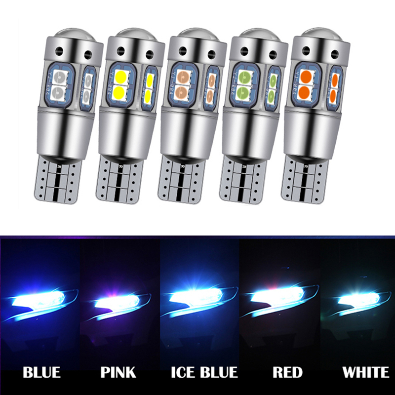 2pcs W5W T10 LED Car Clearance Parking Light for <font><b>Ford</b></font> Fiesta <font><b>Focus</b></font> 2 3 Mondeo <font><b>Mk2</b></font> Mk3 Mk4 F-150 Galaxy 194 Canbus Lights Bulb image