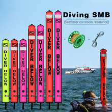 NiteScuba SMB Safety sausage Dive float buoy set Aluminum Spool Finger Reel for Cave Diving Underwater Photography accessories