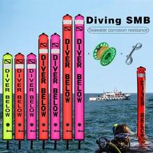 NiteScuba SMB בטיחות נקניק צלילה לצוף מצוף סט אלומיניום Spool אצבע סליל למערה צלילה מתחת למים צילום אבזרים