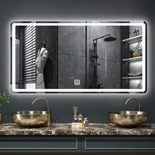 Прямоугольный smart обдува зеркало для ванной комнаты 3 цветной