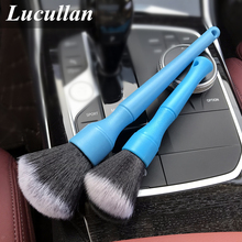 Lucullan Blue Ultra Soft Detailing Brush Super Dense Auto Interior Detail Brush With Synthetic Bristles Car Dashboard Duster Bru