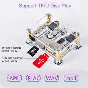 Image 2 - Módulo adaptador de Audio y receptor Bluetooth 5,0, transmisor de altavoz con cable, compatible con tarjeta TF de disco U, Control de aplicación AUX de 3,5mm