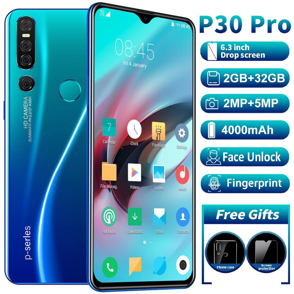SAILF P30 Pro Android 9.0 Octa Core Mobile Phone 6.3' FHD+ 16MP Triple Camera 6G RAM 128GB ROM Smartphone 4G Gsm Global Unlocked