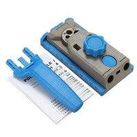 Exquisite carpintaria inclinada furo posicionador perfurador localizador com escala linha carpintaria placa conector|Máquinas de furar madeira|Ferramenta -