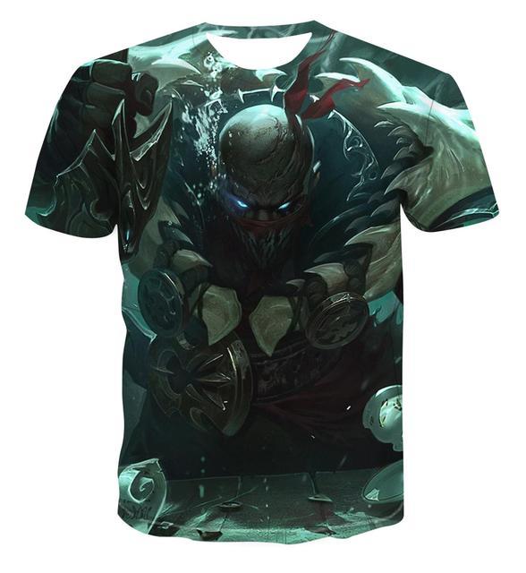 Summer men's casual T-shirt 3D cartoon tiger pattern cool short-sleeved couple fashion personality creative hip-hop T-shirt