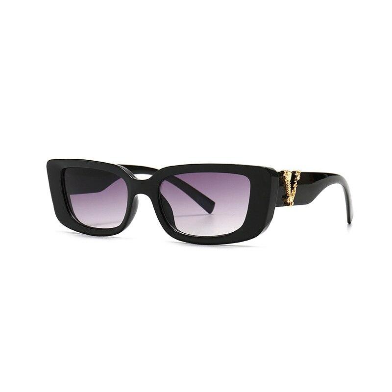 Retro Small Rectangle Sunglasses Candy Colors Gradient Sun Glasses Shades UV400 10
