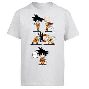 One Punch Man Saitama Tshirt Men Dragon Ball Super T shirt Summer Cotton Tops Short Sleeve OK Funny Japan Anime T-Shirt
