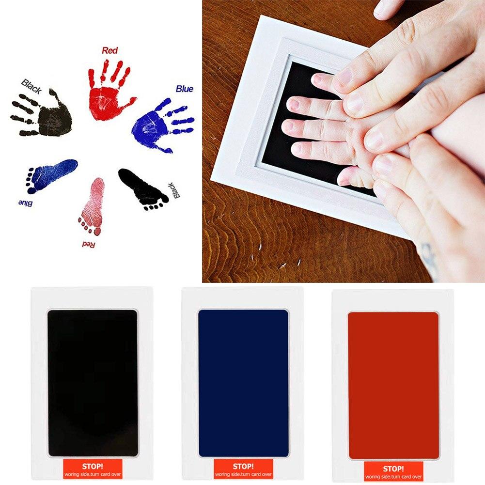 Sicher Nicht giftig Neugeborenen Baby Footprints Handabdruck Keine Touch Haut Tintenlosen Tinte Pads Kits Hand Fuß Druck Andenken Baby geschenk Decor