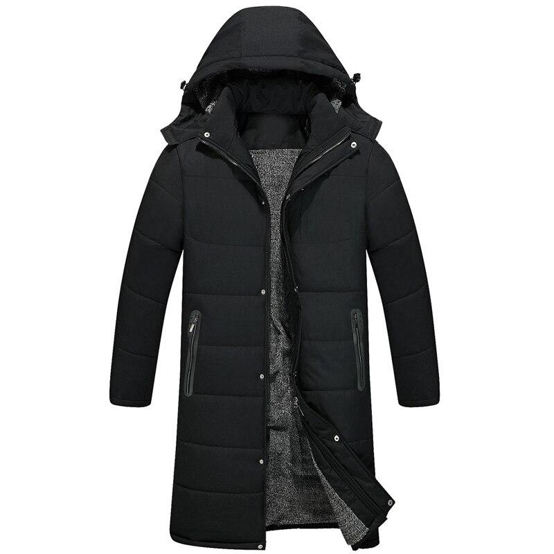 -30 nouveaux hommes d'hiver à capuche épais chaud Parkas manteau col de fourrure coupe-vent décontracté longs hommes vêtements veste manteau