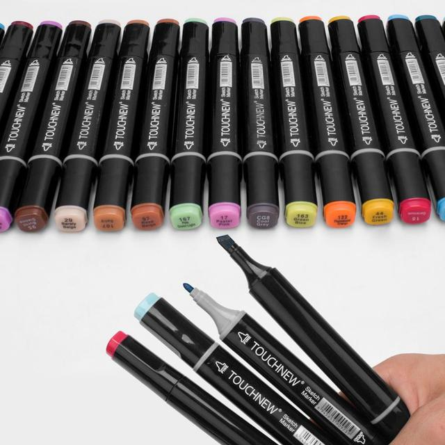 Markers TouchNew Drawing Painting Set Sketch Pens Art Markers Brush 20 30 40 60 80 Colors Alcohol Based Art Supplies Colors pen 4