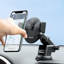 Yerçekimi araç telefonu tutucu iPhone 11 Pro Max Samsung vantuz araba tutucu araba cep telefonu tutucu standı havalandırma