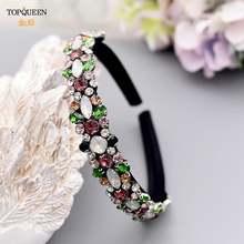 Роскошная винтажная тиара topqueen в стиле барокко с разноцветными