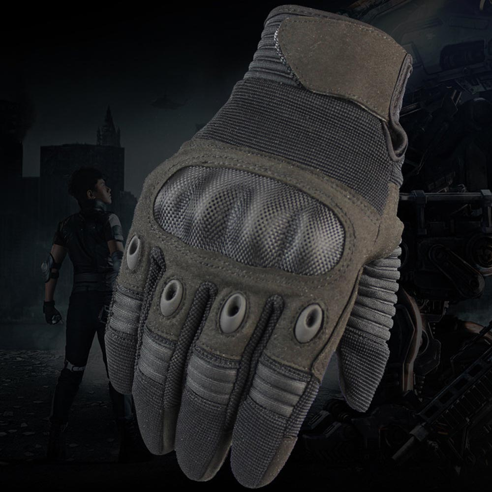 Gift Anti Slip Mittens Outdoor Shooting Cycling Riding Climbing Running Gloves Tactical Stretch Hike Full Finger Gloves Men