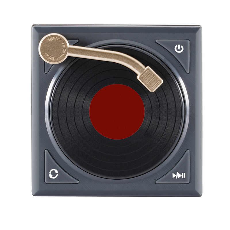 ミニレトロ Bluetooth スピーカーポータブル蓄音機ターンテーブルステレオサラウンドハイファイサウンド高品質