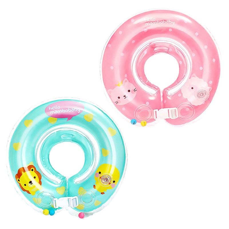 Adjustable Baby Neck Float Ring Safety Inflatable Swimming Neck Ring Circle Bathing Accesories