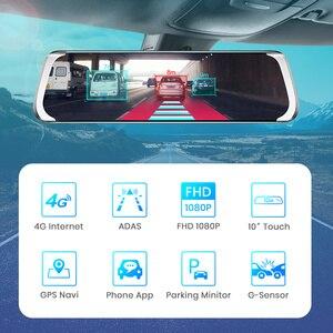 """Image 3 - Junsun A930 ADAS 4G 10 """"IPS araba dvrı kamera ayna çizgi kam Video kaydedici Full HD 1920x1080 arka dikiz aynası Android işletim sistemi WiFi GPS"""