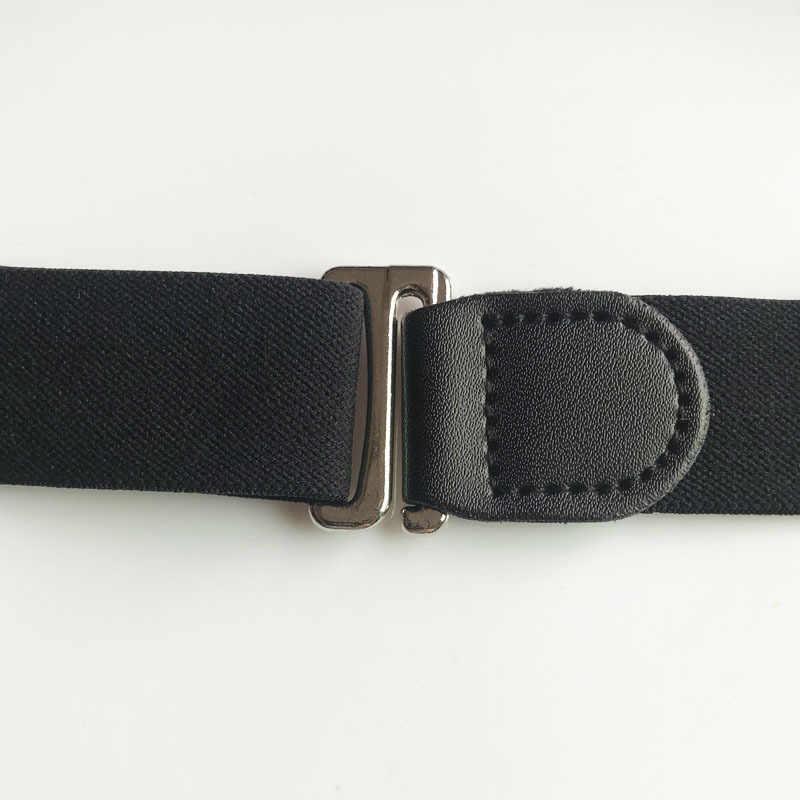 Nova Camisa Homens Mulheres Suspensórios Cinto Tuck Camisa Titulares Permanece Perto Camisa-Ficar Suspensórios Cintura Ajustável Camicia