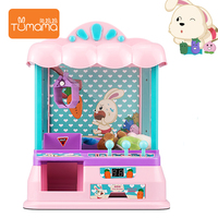 DIY Catch Doll Machine Manual Dual Mode Mini Claw Machine, Intelligent System with Music and Lighting, Children Toys For Gift