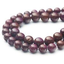 Nowo hurtownia 38cm długi naturalny dodatek kolor Zijin kamień kule dla kobiet DIY naszyjniki biżuteria bransoletki Making